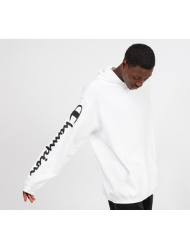 Hooded Sweatshirt   White by Champion