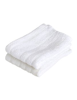 Wiko White Face Cloths 2 Pack Wiko White Face Cloths 2 Pack by Wilko