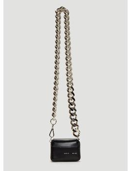 Curb Chain Bikers Wallet In Black by Kara