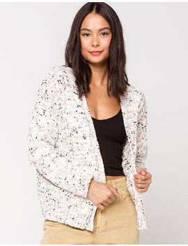 Sky And Sparrow Cable Knit Womens Crop Cardigan by Sky And Sparrow