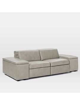 Enzo Full Leather Sleeper Sofa by West Elm