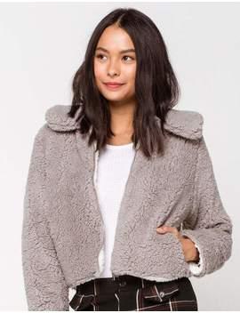 Ashley Crop Cozy Gray Womens Jacket by Ashley