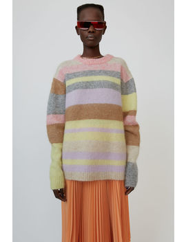 Oversized Striped Sweater Lilac/Yellow Multi by Acne Studios