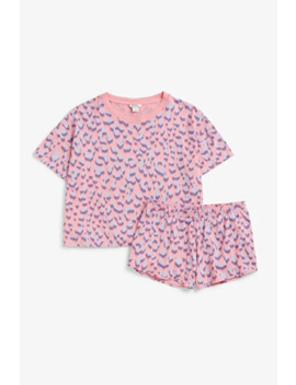 Pink Leo Pj Set by Monki