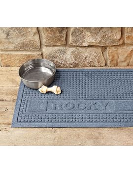 Personalized Squares Pet Mat by Pottery Barn