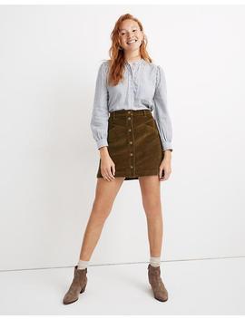 Corduroy A Line Snap Mini Skirt by Madewell