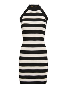 Striped Knit Mini Dress by Balmain