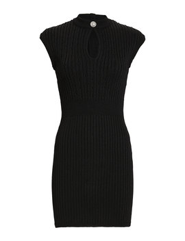 Rib Knit Mini Dress by Balmain