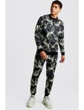 Scuba Baroque Sweater Tracksuit by Boohoo Man