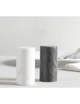 Black & White Marble Salt & Pepper Shakers by Pottery Barn