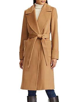 Wool Cashmere Blend Wrap Coat by Lauren Ralph Lauren