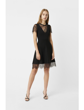 Madalyn Lula Jersey Lace Mix Dress by French Connection