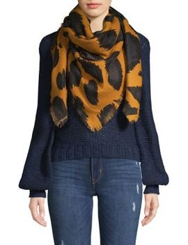 Plaid & Leopard Print Reversible Scarf by Vince Camuto