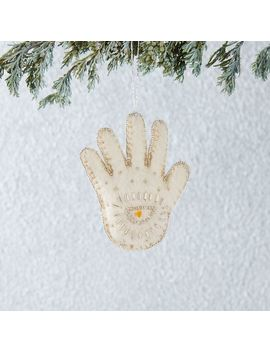 Felt Beaded Hamsa Hand Ornament by West Elm