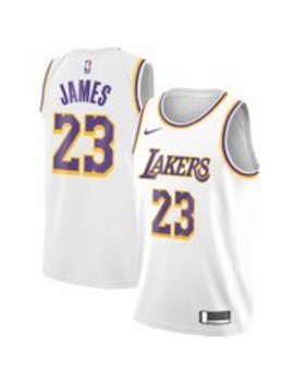 Le Bron James Los Angeles Lakers Nike Swingman Jersey White   Association Edition by Nike