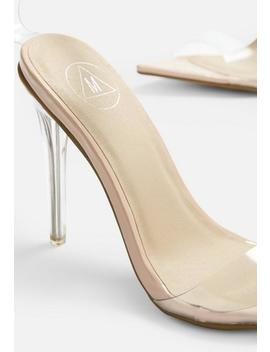 Durchsichtige Stiletto Pumps Mit Strass Fesselriemen In Nude by Missguided