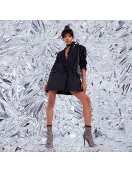 Vakili Diamante Detail Fishnet Heel In Black by Ego