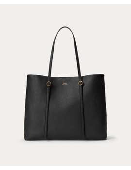 Leather Large Lennox Tote by Ralph Lauren