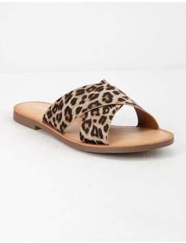 Soda Lunacy Leopard Womens Sandals by Soda