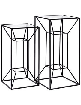 Imax Worldwide Home Set Of 2 Rogers Power Coated Tall Accent Table by Imax