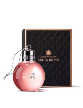 Delicious Rhubarb & Rose Festive Bauble by Molton Brown