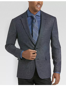 Awearness Kenneth Cole Navy Tic Modern Fit Sport Coat by Awearness Kenneth Cole