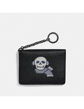 Key Ring Card Case With Bonesy by Coach