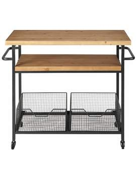 Metal And Wood Industrial Kitchen Trolley    Bessie by Maisons Du Monde
