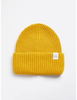 Nylon Beanie In Mustard by Frank & Oak