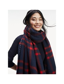 Check Wool Scarf by Tommy Hilfiger