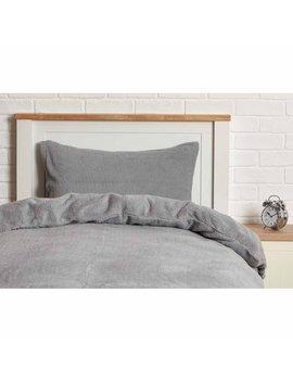Sleepdown Grey Soft Teddy Fleece Duvet Set  Single Sleepdown Grey Soft Teddy Fleece Duvet Set  Single by Wilko