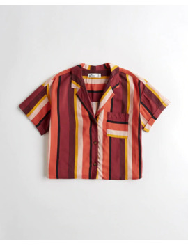 Stripe Camp Shirt by Hollister