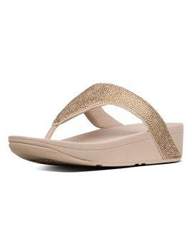 Artisan Gold Lottie Shimmer Crystal Sandal   Women by Fit Flop