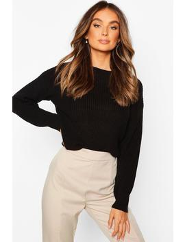 Crop Fisherman Jumper by Boohoo