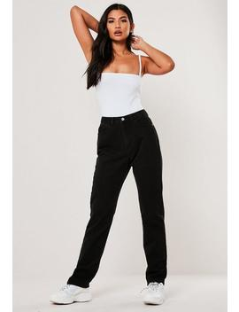 Black Wrath High Waisted Full Length Jeans by Missguided