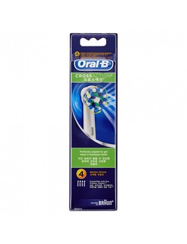 Crossaction Electric Toothbrush Heads Refill 4 Pack by Oral B