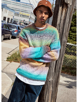 Space Dyed Knit Sweater by Djab