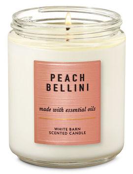 White Barn   Peach Bellini   Single Wick Candle    by White Barn