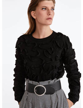 Sweater With Superimposed Ribbons by Uterqüe
