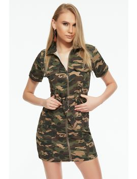 Khaki Camo Utility Dress by Select