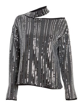 Langley Sequin Cut Out Sweater by Rt A