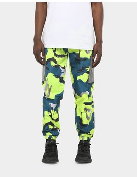 Nicce Nitric Camo Track Pants Yellow Camo by Translation Missing: En.Ck.Brand.Nicce