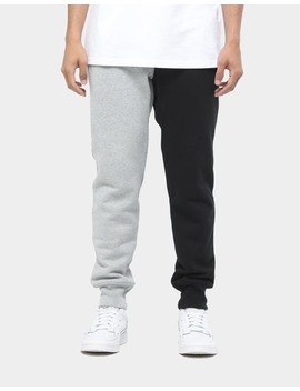 Champion Rev Weave Spliced Jogger Black/Oxford Grey by Champion