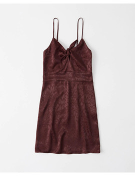 Tie Front Mini Dress by Abercrombie & Fitch