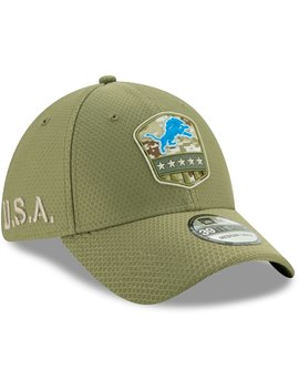 Detroit Lions New Era 2019 Salute To Service Sideline 39 Thirty Flex Hat   Olive by New Era