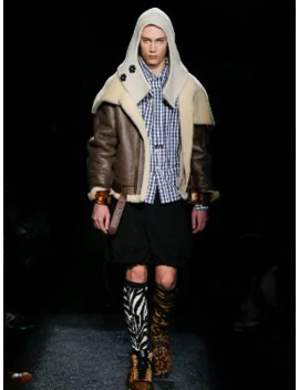 Shearling Collar Aviator Jacket by Jw Anderson