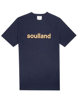 Soulland Logic Chuck T Shirt Navy by 5 Pointz