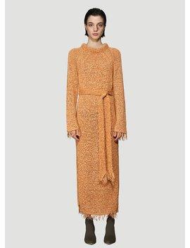 Kaize Knit Dress In Orange by Nanushka