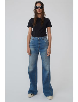 Wide Leg Workwear Trousers Mid Blue by Acne Studios