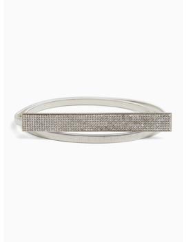 Silver Tone Snakeskin Print Rhinestone Buckle Belt by Torrid
